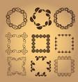 set of vintage design elements7 vector image vector image