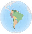 south america continent is divided country vector image
