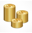 Stacks of coin vector image vector image