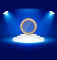 stage podium with lighting stage podium scene vector image vector image