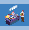 stem students research composition vector image vector image