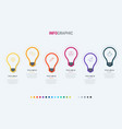 timeline infographic design 6 steps bulbs