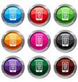 translate application on a smartphone set 9 vector image vector image