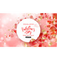 valentine s day sale background top view vector image vector image