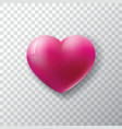 valentines day background with glossy heart on vector image