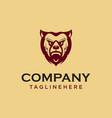 vintage bear face mascot emblem symbols can vector image