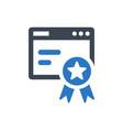 website ranking icon vector image vector image