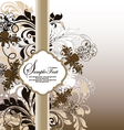 brown floral invitation card vector image