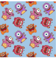 seamless monster pattern vector image