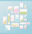 different pictire frames with simple colorful vector image