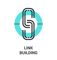link building icon vector image