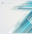 abstract technology futuristic style blue vector image vector image