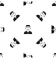 asian man pattern seamless black vector image vector image