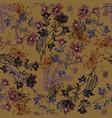 autumn seamless pattern of wild flowers vector image
