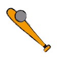 baseball bat symbol vector image vector image