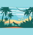 beautiful scene of nature peaceful jungle vector image