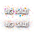 Big sale paper banners vector image vector image
