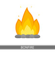 bonfire icon vector image vector image