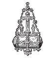 brooch diamond vintage engraving vector image vector image