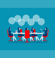 business people brainstorming concept business vector image