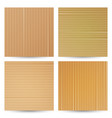 cardboard textures set realistic paper vector image vector image