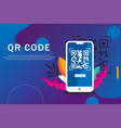 checking qr code landing page vector image vector image