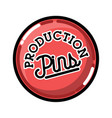 color vintage pins production emblem vector image vector image