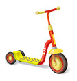 colored roller scooter for children balance bike vector image vector image