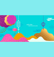 colorful asian background modern minimalist design vector image vector image