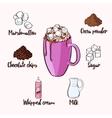Colorful Cocoa Drink Recipe vector image vector image