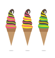 Colorful Ice Cream Cone vector image