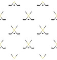 crossed hockey sticks pattern seamless vector image vector image