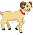 cute cartoon goat vector image vector image