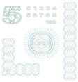Decorative elements and numbers vector image vector image