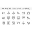 finance banking icon vector image