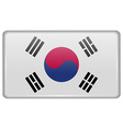 Flags Korea South in the form of a magnet on vector image