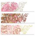 floral backgrounds set with flowers vector image vector image