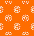glazed donut pattern seamless vector image vector image