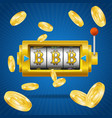 golden bitcoin mining concept win vector image vector image