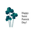 green clover bouquet on white background st vector image