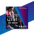 gym post vector image