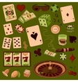 Hand drawn Casino icons set vector image