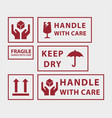 handle with care icons vector image vector image