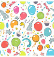 happy birthday seamless patern vector image vector image