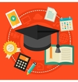 High school education concept vector image vector image