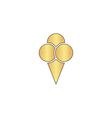 Ice cream computer symbol vector image vector image