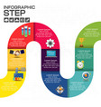 infographics business stair step success design vector image vector image
