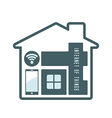 iot house technology vector image vector image