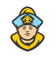 kazakh man in historical clothes vector image