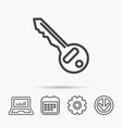 key icon door unlock tool sign vector image vector image